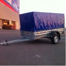ТК01/30 синий. Тент с каркасом к прицепу МЗСА 817701 817730